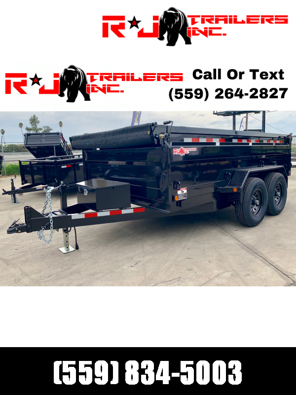 2021 R&J 7X12 14K  DUMP TRAILER 3' formed Walls