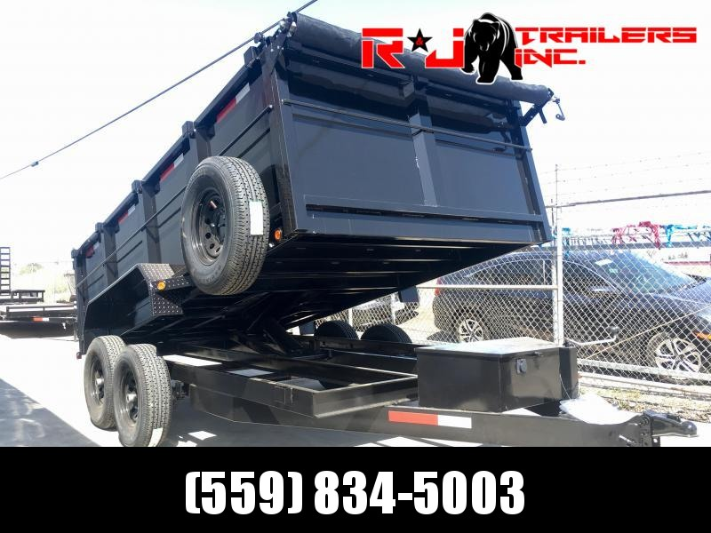 2021 R&J Trailers Inc 7x14 14k  Dump Trailer 3' walls