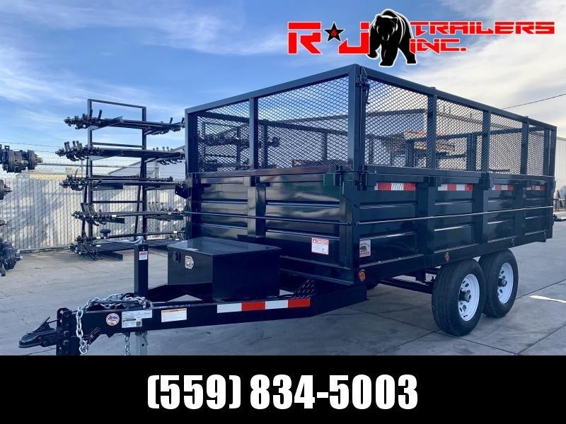 2021 R&J New model 6x12 10k DeckOver Dump Trailer