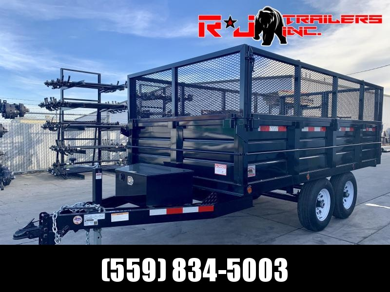 2021 R&J New model 6x12 10k DeckOver Dump Trailer