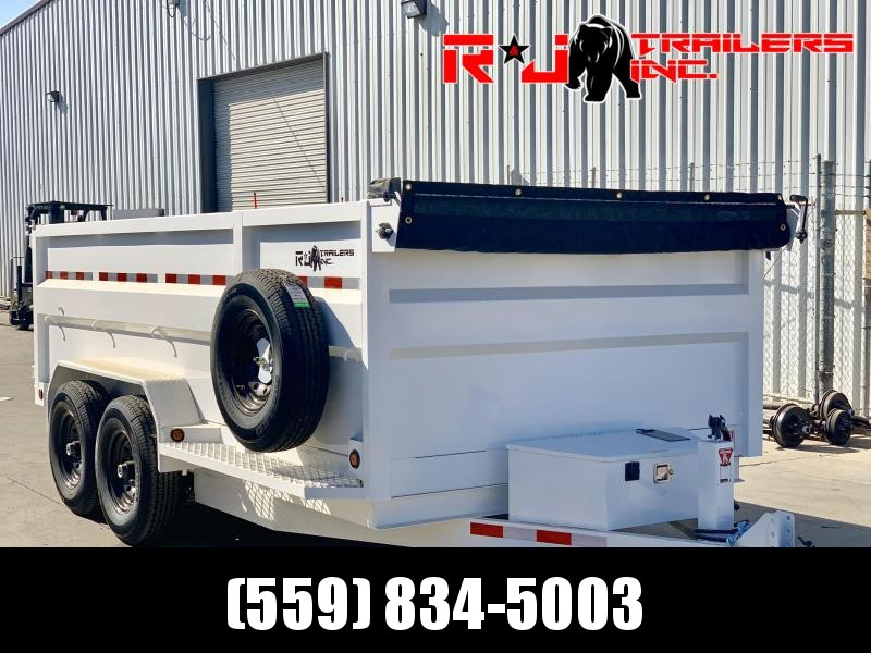 *2021 R&J Custom 7'x14' 14k HD Dump *  *3' FORMED WALLS
