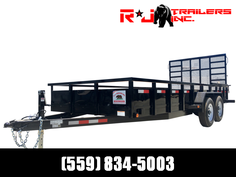 2021 R&J 7'x20' 10k HD Equipment Trailer