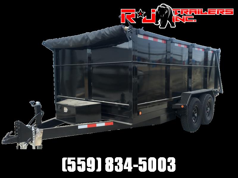 2022 R&J Trailers Inc 7x14 14k Dump Trailer 4' WALLS