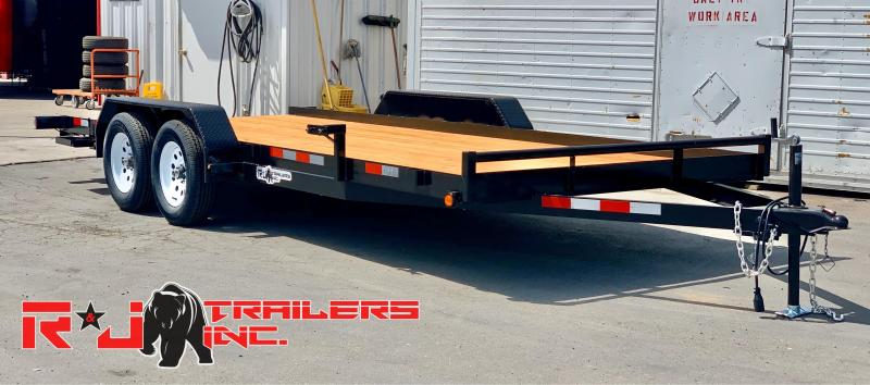 2020 R&J Trailers Inc 7x18 7k Car Hauler