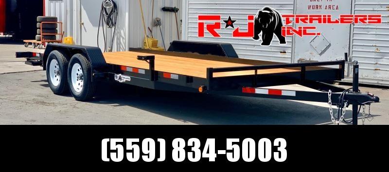 2021 R&J Trailers Inc 7x18 7k Car Hauler