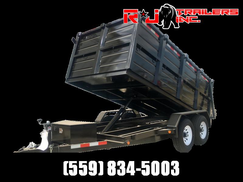 2021  R&J Trailers Inc 6x12 10k Dump Trailer 4' WALLS