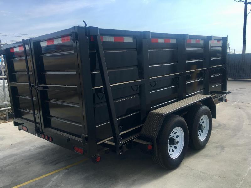 2020  R&J Trailers Inc 6x12 10k Dump Trailer 4' WALLS