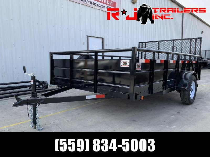 2021 R&J Trailers Inc 7x12 landscape 2.9k Trailer HD gate