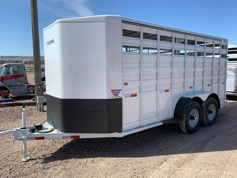 "2021 Titan Trailers 6.8"" x 16' Standard Stock Livestock Trailer"