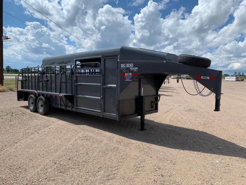 2021 Big Bend 24' 3/4 Top Livestock Trailer