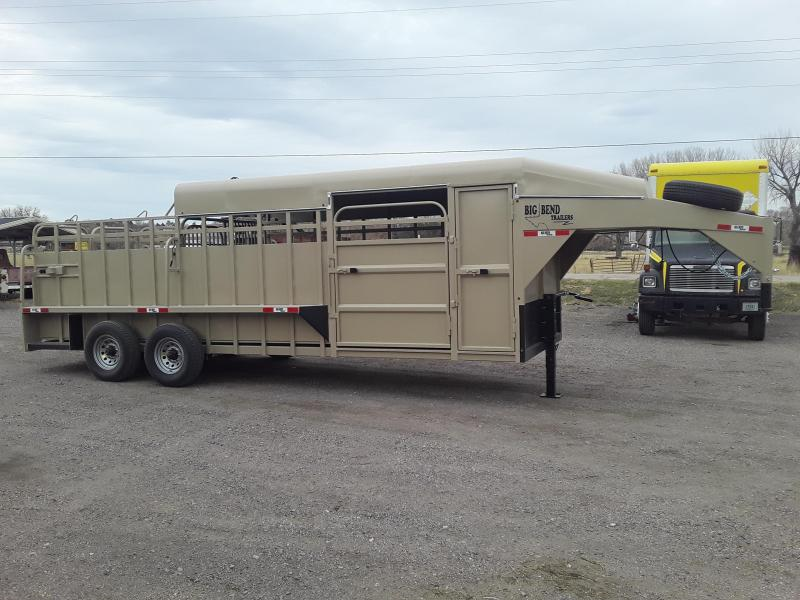 2021 Big Bend 22' SADLLE BOX HALF TOP Livestock Trailer