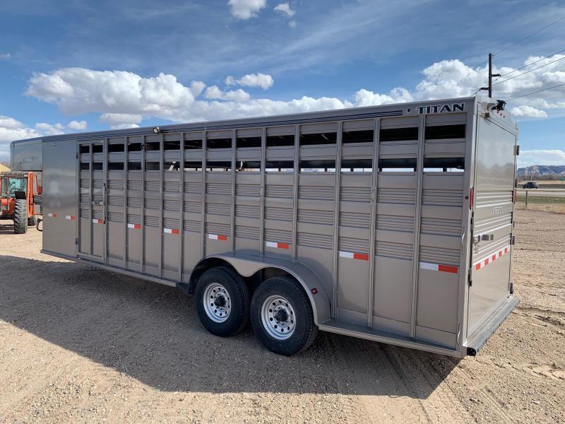 2021 Titan Trailers 24' Stock Combo Livestock Trailer