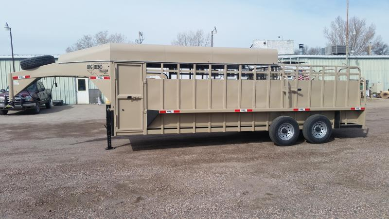 2020 Big Bend 22' HALF TOP Livestock Trailer