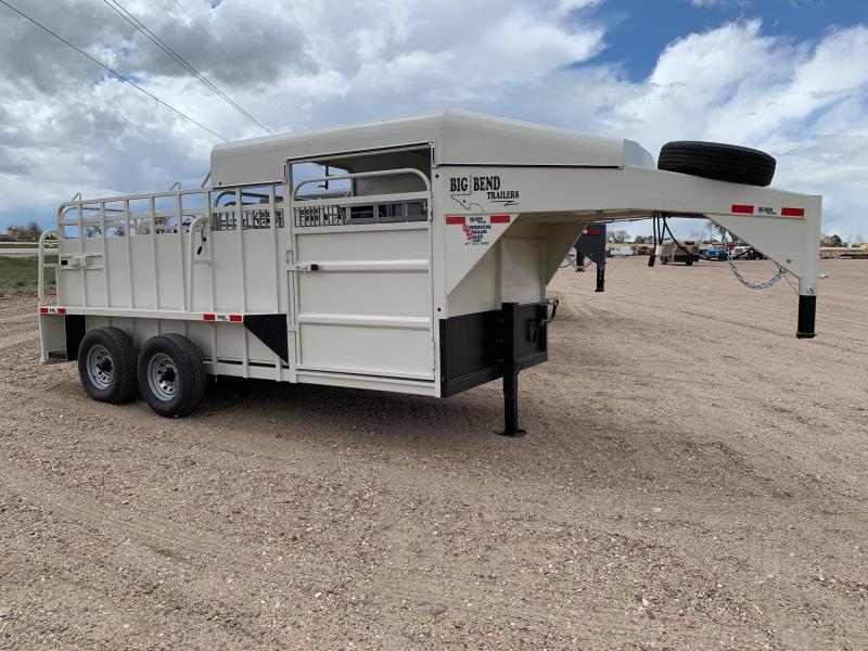 2021 Big Bend 16' Half Top Livestock Trailer