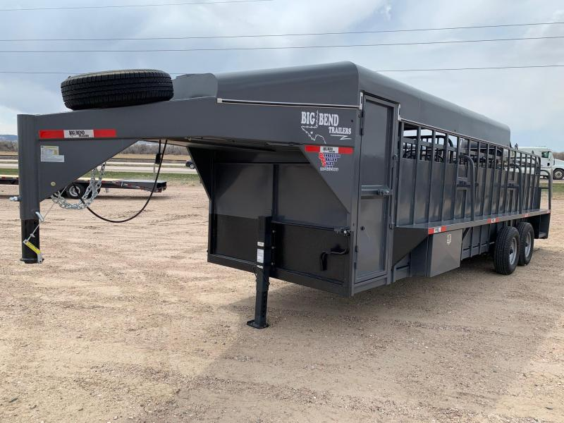 2021 Big Bend 24' 3/4 Top Livestock Trailer