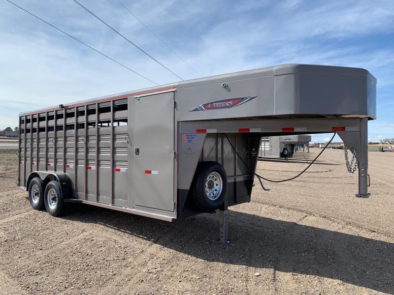2021 Titan Trailers 20' Stock Combo Livestock Trailer