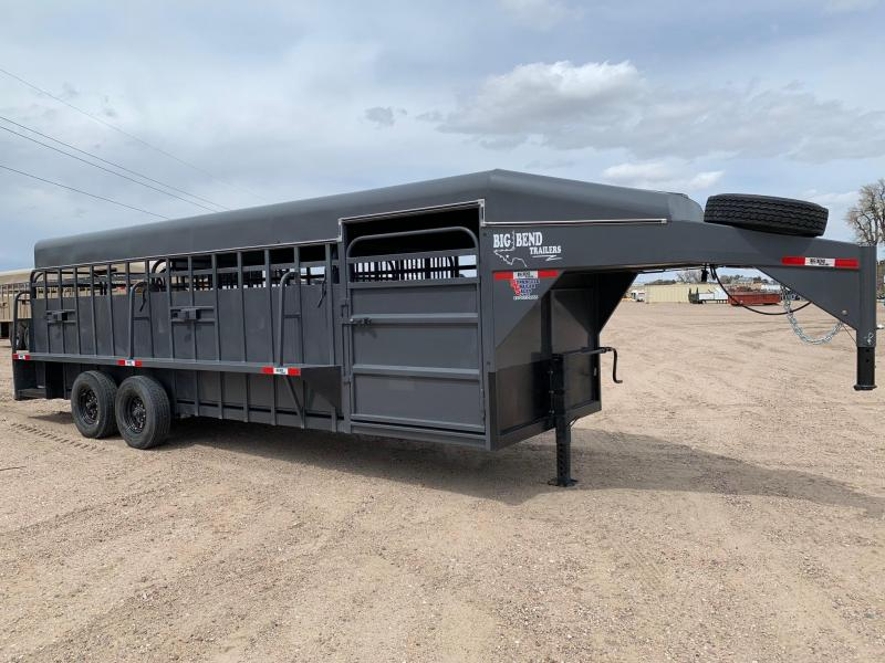2021 Big Bend 24' Full Top Livestock Trailer