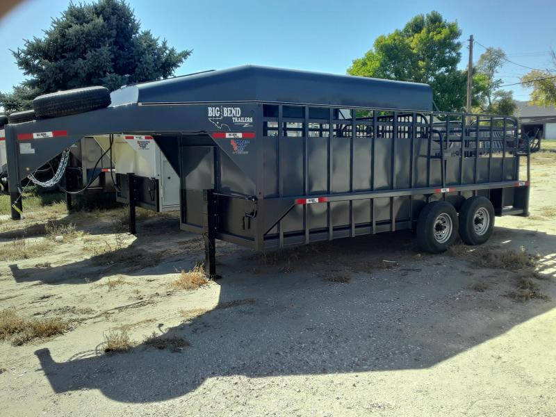 2021 Big Bend 18 HALF TOP Livestock Trailer