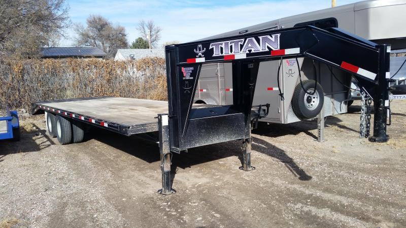 2017 Titan Trailers RUFFNECK 25 GN FB Flatbed Trailer