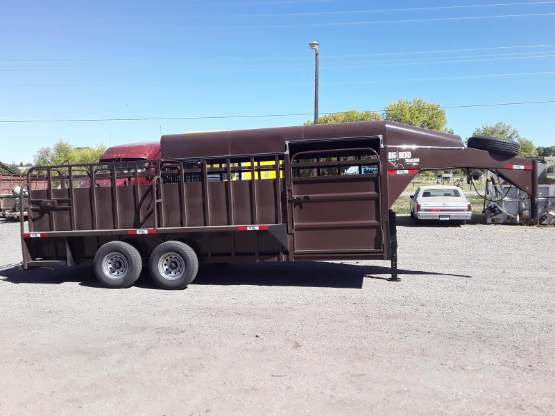 2020 Big Bend 20 HALF TOP Livestock Trailer