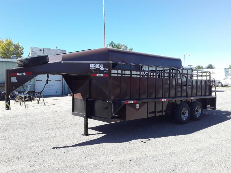 2020 Big Bend 20 HALF TOP Livestock Trailer