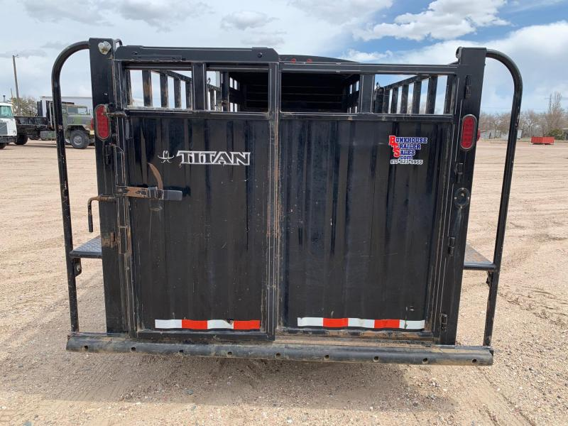 2015 Titan 20' 1/3 Top Livestock Trailer