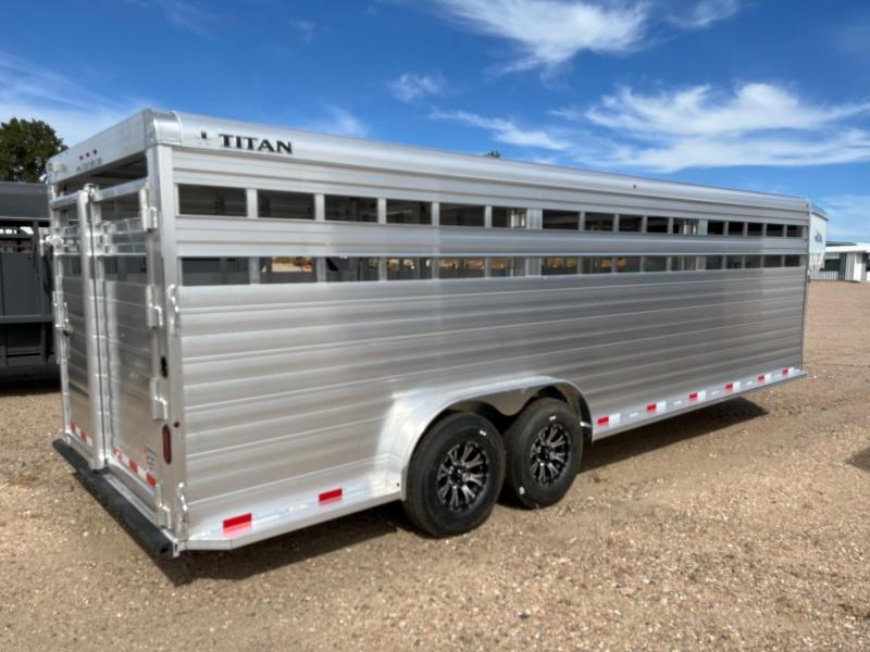 2022 Titan Trailers 24' ALUMINUM STOCK Livestock Trailer