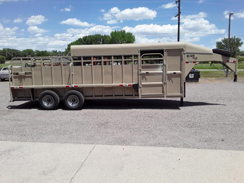 2020 Big Bend 22' HALF TOP Livestock Trailer