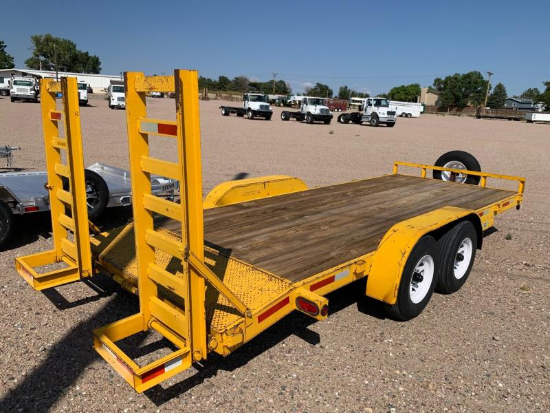 2000 H and H Trailer 18' Flatbed Trailer