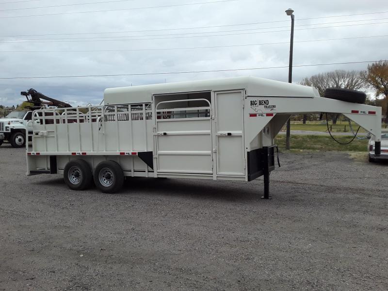 2021 Big Bend 20' HALF TOP Livestock Trailer