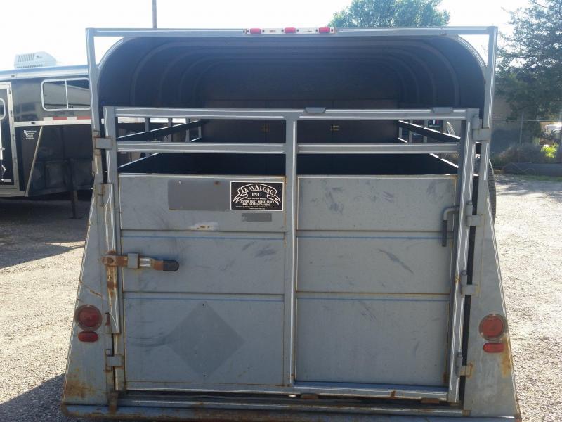 1984 Travalong 12' BH STOCK Livestock Trailer