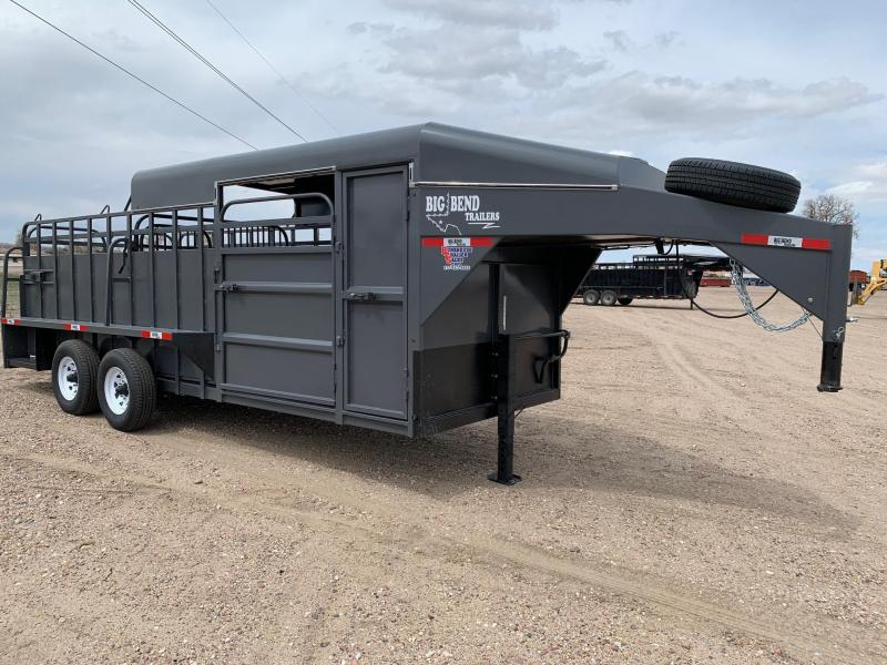 2021 Big Bend 20' 3/4 Top Livestock Trailer