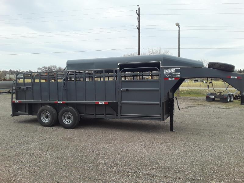 2021 Big Bend 20 HALF TOP Livestock Trailer