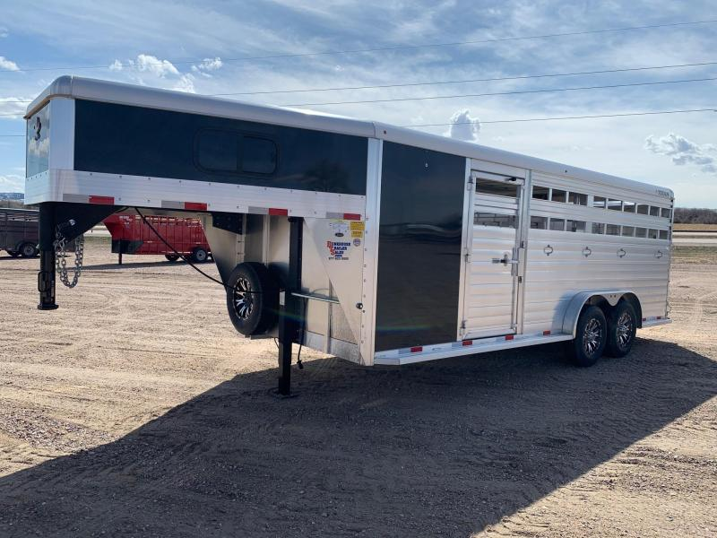 2020 Titan Trailers 20' ALUMINUM STOCK COMBO Livestock Trailer