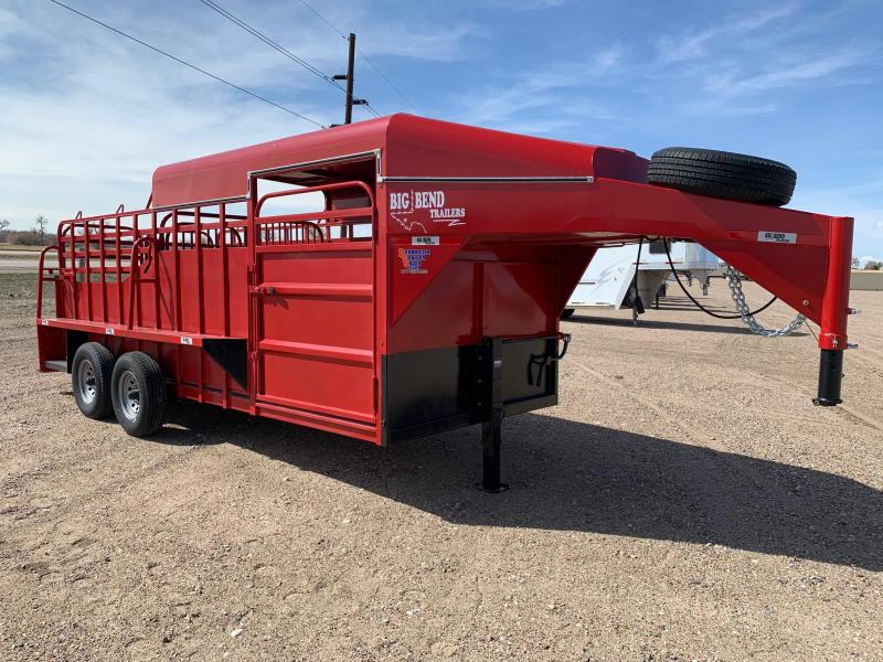2021 Big Bend 18' HALF TOP Livestock Trailer