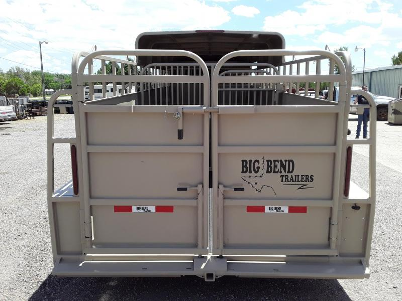 2020 Big Bend 24' HALF TOP Livestock Trailer