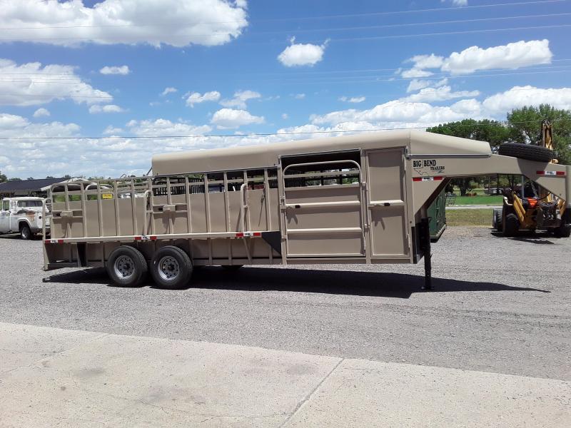 2020 Big Bend 24' HALF TOP Livestock Trailer