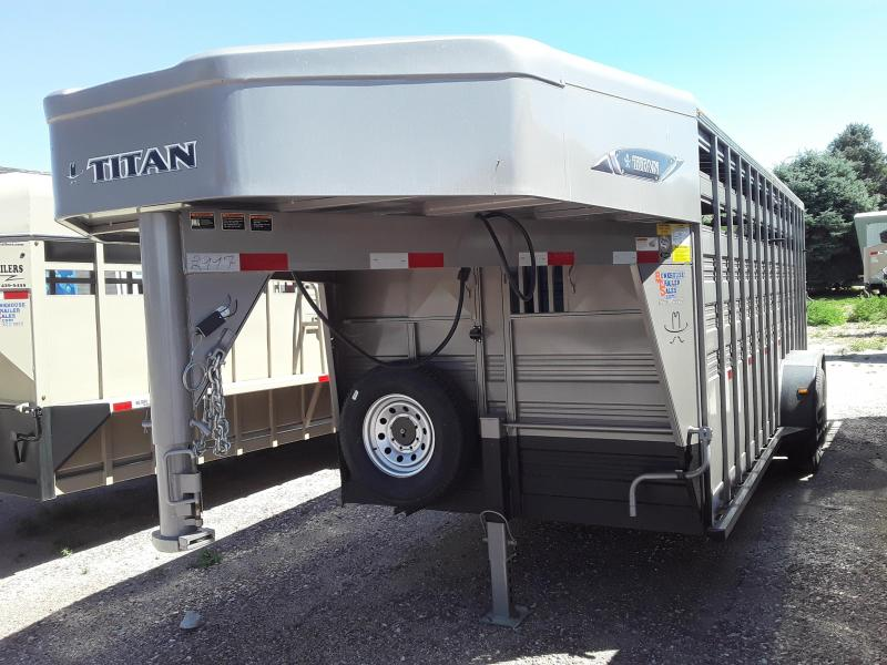 2020 Titan Trailers 20' STOCK Livestock Trailer