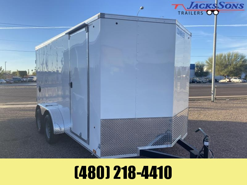 2021 Compass 7X14 Enclosed Cargo Trailer