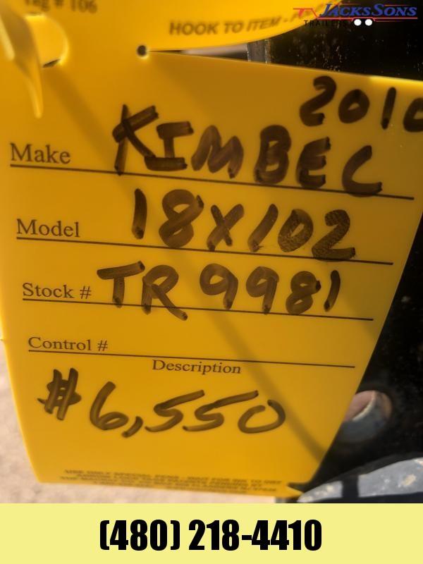 2010 Kimbel Trailers 102X18 Flatbed Trailer