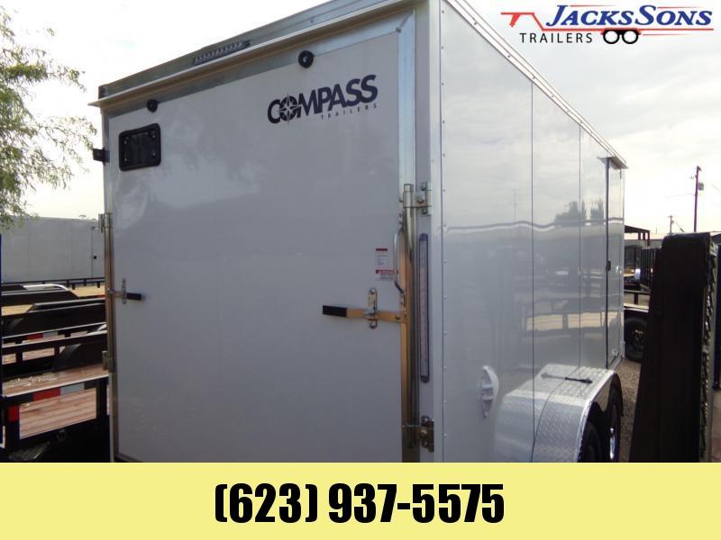 2022 Compass 7 X 16 RAMP DOOR XTRA HIGH DELUXE MODEL ENCLOSED Enclosed Cargo Trailer