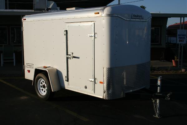 5x10 Haulmark Trailers Ramp Cargo / Enclosed Trailer Rental