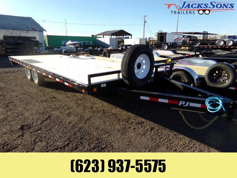 2020 PJ Trailers 24 FT DECKOVER 14K 102 WIDE Flatbed Trailer