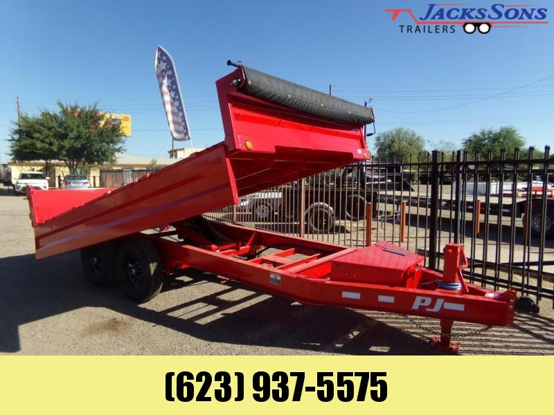 2021 PJ Trailers 14FT DECKOVER DUMP 14K RED POWDER COAT Dump Trailer