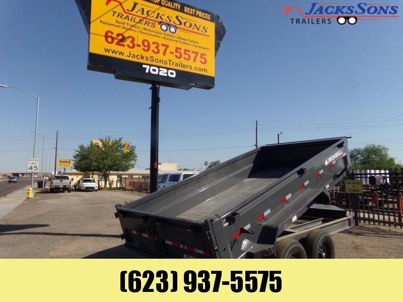2022 Iron Bull 14 FT. 14K Dump trailer Grey Dump Trailer