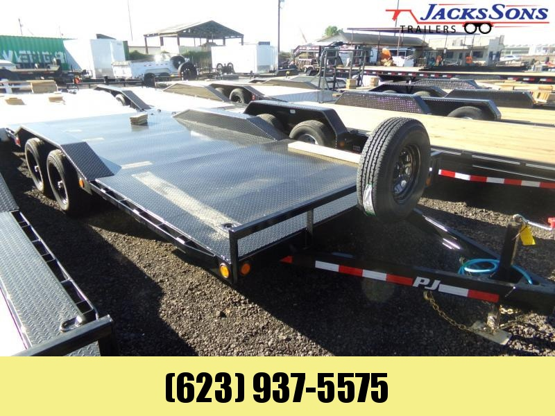 2020 PJ Trailers 18 FT STEEL DECK BUGGY / CAR HAULER 5200 AXLES Car / Racing Trailer