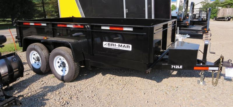 "Bri-Mar DT714LP-LE-14-A 81.5""x14' Low Pro Dump Trailer 14K GVWR"