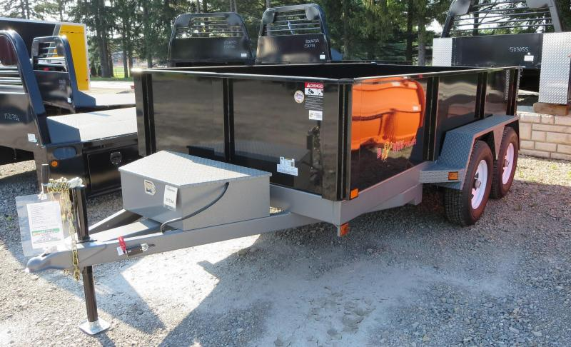 "B-Wise DLP12W-10 82""x12' Dump Trailer 9.9K GVWR"