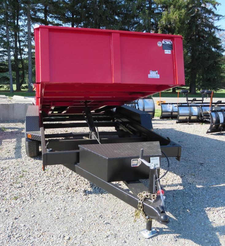 B-Wise DLP12W-10 7'x12' Dump Trailer 9.9K GVWR