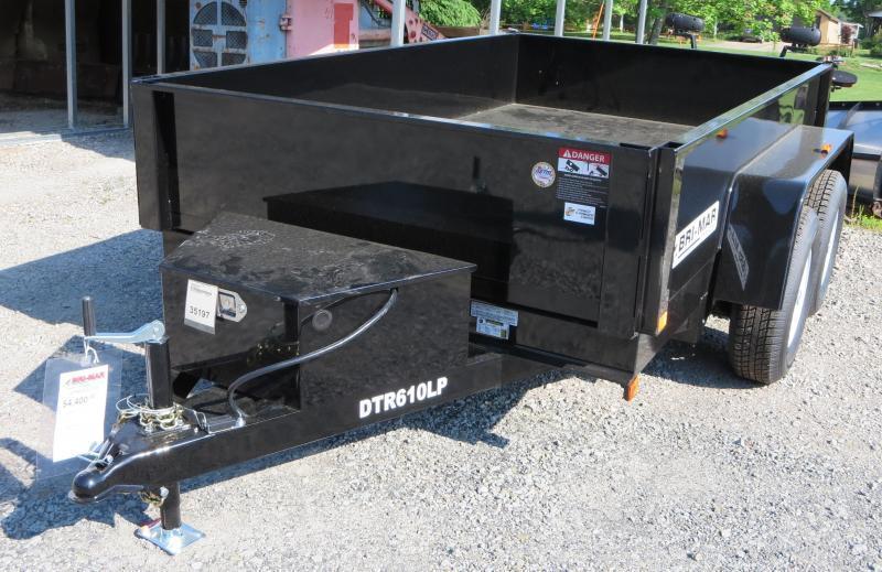 """DTR610LP-7-D 72""""x10' Dump Trailer 7K GVWR"""